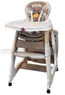 Jedálenská židlička KENIA - béžová