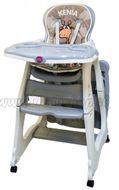 Jedálenská židlička KENIA - siva