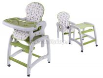 Jedálenský stolček ECO TOYS 2v1 - zelený