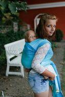 Little FROG Tkaný šatka na nosenie detí -  EUCLASE