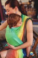 Little FROG Tkaný šatka na nosenie detí -  Sunny Ammolite