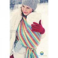 Little FROG Žakárová tkaná šatka na nosenie detí -  Rainbow Cube