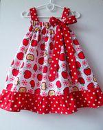 Šaty Alica na gumičku 3v1 Jabĺčka červená 5 - 7 rokov