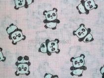 Skladom Bavlnená plienka s potlačou New Baby ružová s pandami modrá