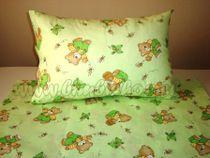Skladom Detské obliečky 120x90 Macko/Motýľ zelená