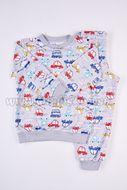 Skladom Detské pyžamo Autíčka farebné šedá/šedá
