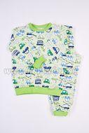 Skladom Detské pyžamo Autíčka farebné Zelená/pistáciová
