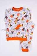 Skladom Detské pyžamo Príšerky šedá/oranžová