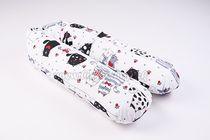 Skladom Dojčiaci vankúš - relaxačná poduška Mačky biela/červená