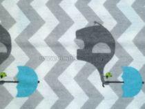 Skladom Flanelová plienka s potlačou New Baby Slon modrá