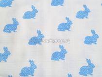 Skladom Plienková osuška 90x100 hrubá Zajac modrý