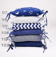Skladom Vankúš na mantinel 1ks vzor č. 98 biela/tm.modrá