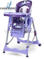 Jedálenská stolička CARETERO Magnus Fun purple fialová