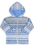 Skladom Zimný dojčenský kabátik Baby Service Etnik zima modrý modrá 80 (9-12m)