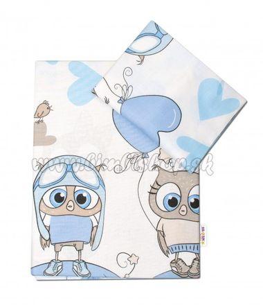 2-dielne bavlnené obliečky 135x100 cm, Cute Owls - modrá