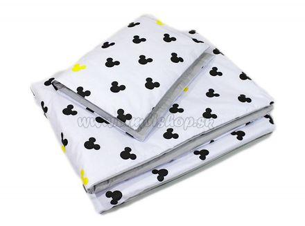 2-dielne obliečky 135x100, Mickey, bavlnené - sivá, žltá