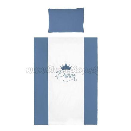 2-dielne posteľné obliečky Belisima Royal Baby 100/135 modré modrá
