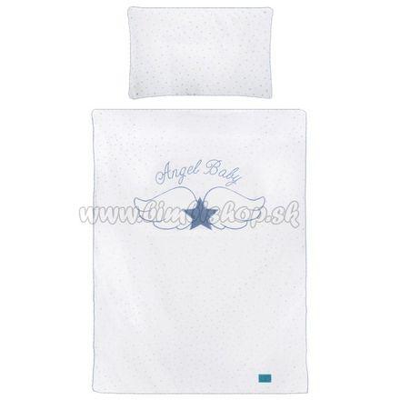 5-dielne posteľné obliečky Belisima Angel Baby 100/135 modré modrá