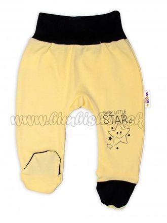 Baby Nellys Dojčenské polodupačky, žlté - Baby Little Star, veľ. 74