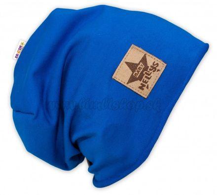 Bavlnená čiapočka Baby Nellys ® - tm. modrá, veľ. 52 - 54 cm