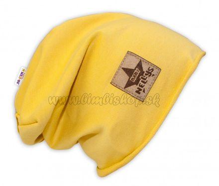 Bavlnená čiapočka Baby Nellys ® - žltá, veľ. 52 - 54 cm