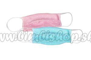Bavlnené dvojvrstvové rúško pre dospelých bodka - 000 - ružová