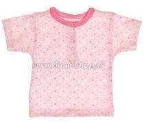 787eb4c32f4b Bavlnené Polo tričko s krátkym rukávom Hviezdičky - ružové