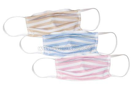 Bavlnené rúško Hrubý pás pre deti - 000 - ružová
