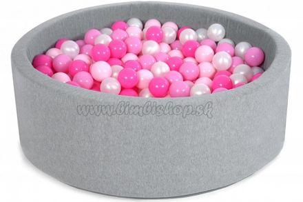 Bazen pre děti 90x40cm + 200 balónků - sugar pink
