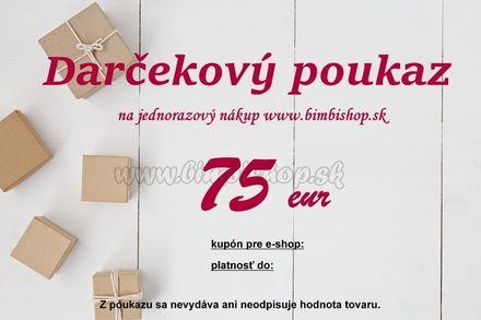 Darčeková poukážka v hodnote 75€
