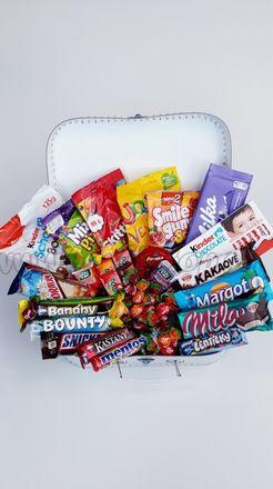 Darčekový kufrík pre deti Sladkosti Maxi dievča / chlapec