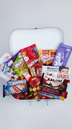 Darčekový kufrík pre deti Sladkosti Midi dievča / chlapec