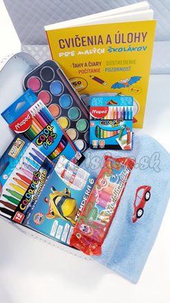 Darčekový kufrík pre predškoláka MINI chlapec modrá