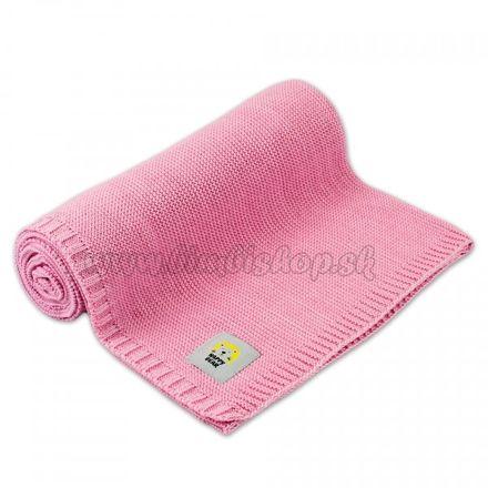 Detská bambusovo - bavlnená deka, dečka MBaby - Happy Bear, ružová