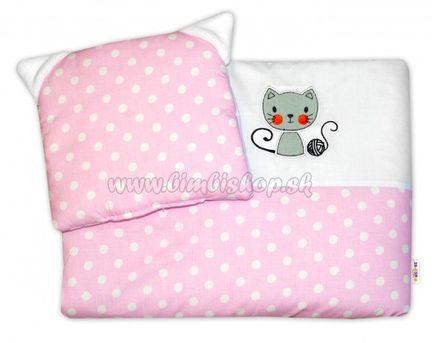 Detská sada do kočíka Baby Nellys ® Cat - bubble ružová