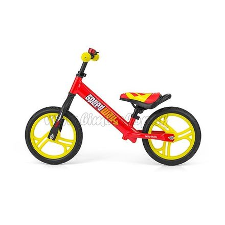"""Detské odrážadlo bicykel Milly Mally Speedway 12"""" red Červená"""