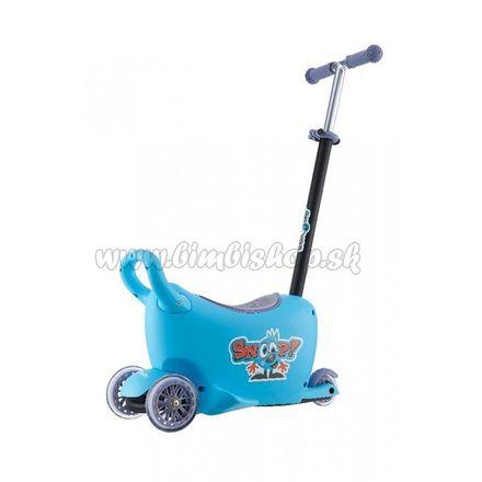 Detské odrážadlo s vodiacou tyčou Snoop 3v1 Milly Mally blue modrá