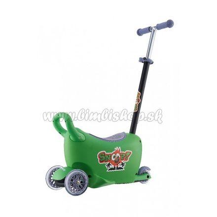 Detské odrážadlo s vodiacou tyčou Snoop 3v1 Milly Mally green zelená