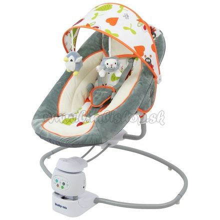 Detské otočné ležadlo 2v1 Baby Mix grey sivá