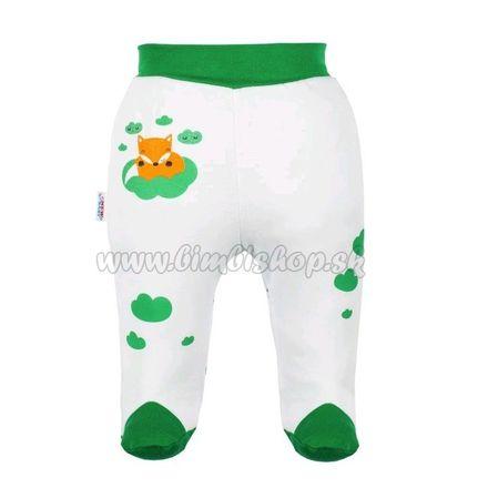 Dojčenské bavlnené polodupačky New Baby Líška zelená 74 (6-9m)