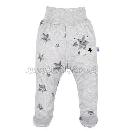 Dojčenské polodupačky New Baby Stars sivá 74 (6-9m)