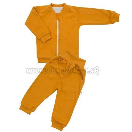 Skladom Dojčenské tepláčky a mikinka New Baby Uni horčicová Žltá 56 (0-3m)
