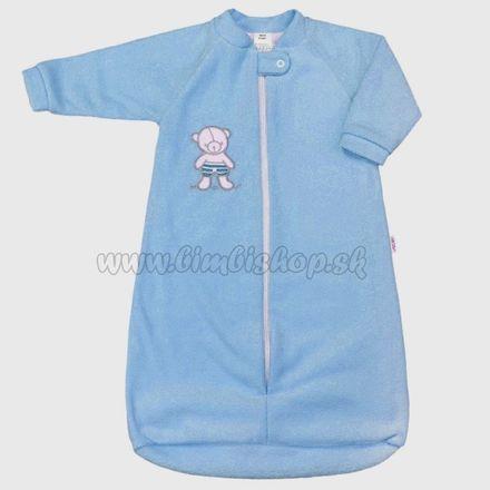 Dojčenský froté spací vak New Baby medvedík modrý modrá 86 (12-18m)