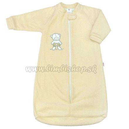 Dojčenský froté spací vak New Baby medvedík žltý Žltá 74 (6-9m)