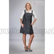 003d2a5bf3e4 Elegantné šaty - čierny melírek M L