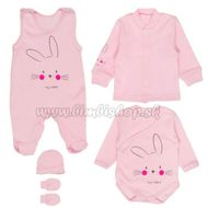 1821af337 MBaby Súpravička do pôrodnice 5D - My Rabbit - ružová