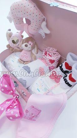 Skladom Plienková torta Hviezdička kufrík ružová