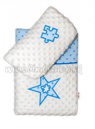 Sada do kočíka Mini stars Mink - modrá