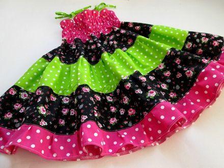 Skladom Šaty Emma na gumičku 3v1 variabilné Ružičky a bodky