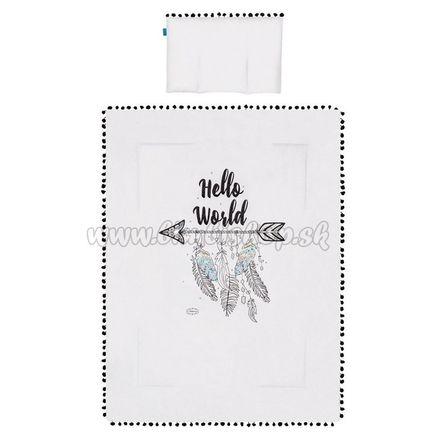 Set perinka a vankúšik Hello World Belisima 75x100 cm sivá